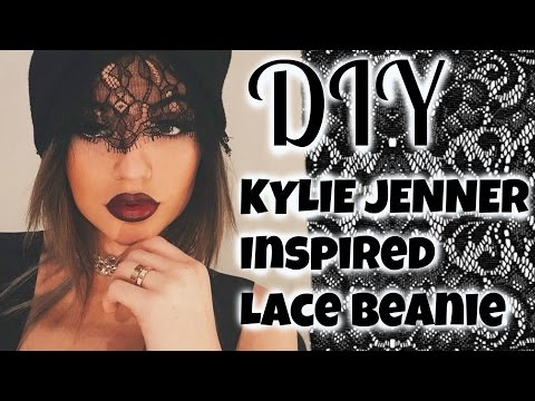 DIY♡ Kylie Jenner Inspired Lace Beanie