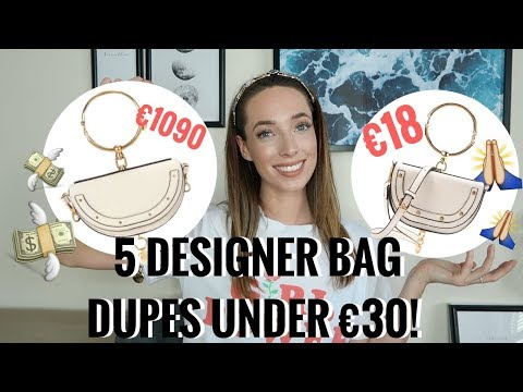5 DESIGNER DUPE BAGS UNDER €30! 👜  GUCCI, PRADA, CHLOE, CHANEL & MORE | CIARA O DOHERTY