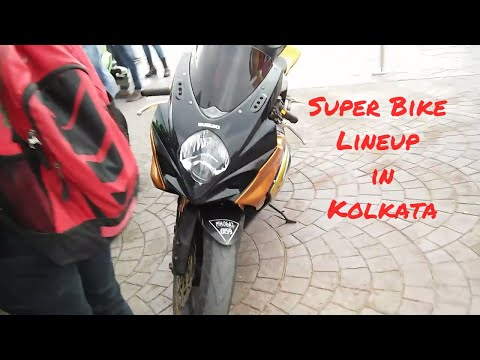 Super Bike Lineup in kolkata ii Worlds Motorcycle Day Part II-Track Day-Stunt Show
