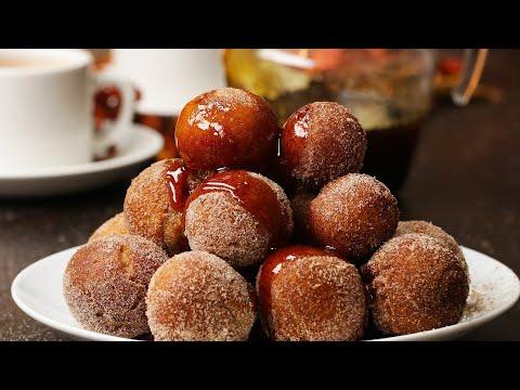 Cinnamon Syrup-Glazed Doughnuts