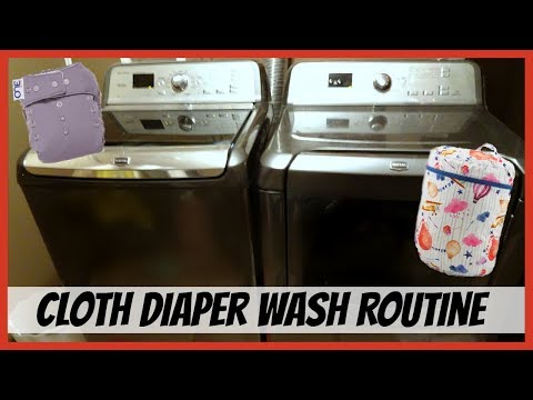 MY CLOTH DIAPER WASH ROUTINE | HOW I WASH MY CLOTH DIAPERS IN HARD WATER