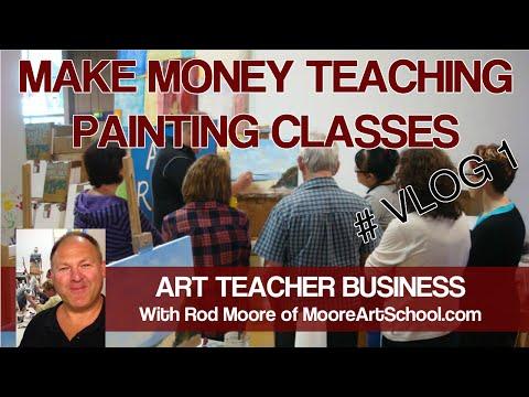 Art Teacher Business - Make Money Teaching Painting Classes VLOG 1 #MooreMethod