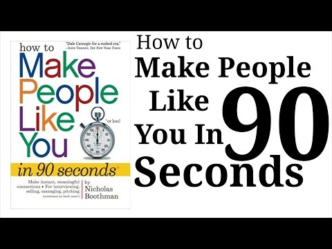 How to Make People Like You in 90 Seconds or Less by Nicholas Bootman । Animated Book Summary Hindi
