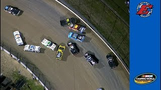 Sauter, several trucks collected in early wreck at Eldora
