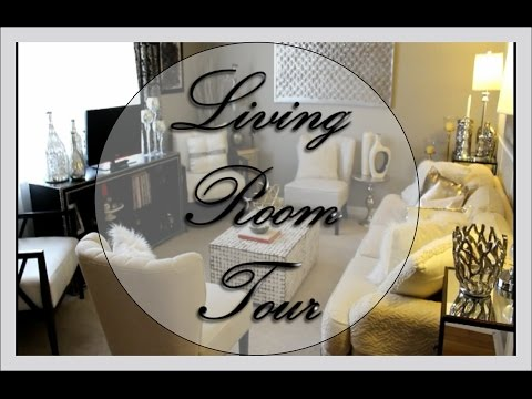 NEW 2017 LIVING ROOM TOUR (Brighten up your space!) DIY addition