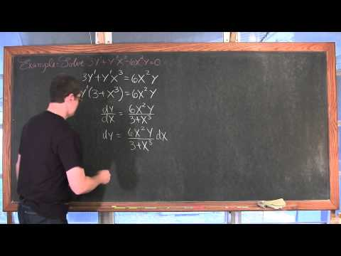Intro to Solving Separable Differential Equation