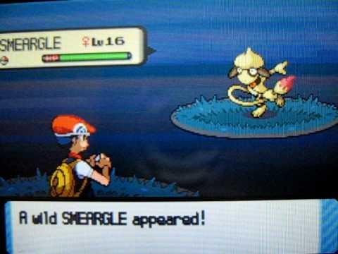 Shiny Smeargle (1 of 5) pokeradar chain 40 pokemon diamond