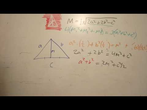 Triangle Median Formulas