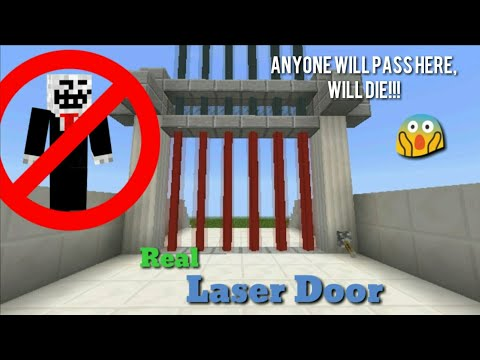 MCPE: The Real Laser Door in Minecraft