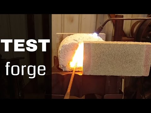 Test Forge!! (Testing Homemade Refractory for Forge)