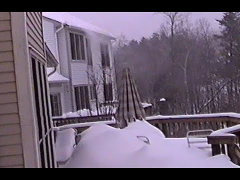 Blizzard of '96 in Clifton, Virginia: Day #6 (1-12-96)