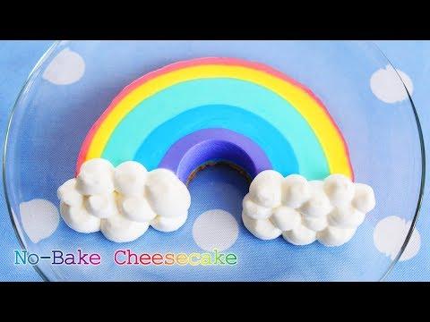 【ゆめかわ】レインボーチーズケーキ ~ Easy Rainbow Cheesecake【料理レシピはParty Kitchen🎉】
