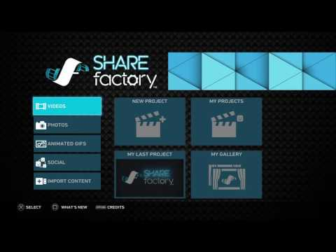 How to import videos from usb to PS4! SHAREFactory Required!!!