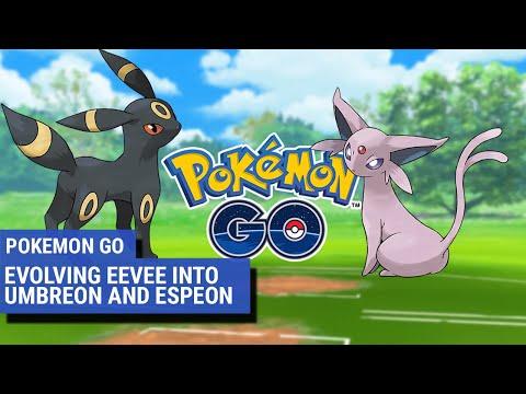 Pokémon Go: How to evolve Eevee into evolutions Umbreon and Espeon