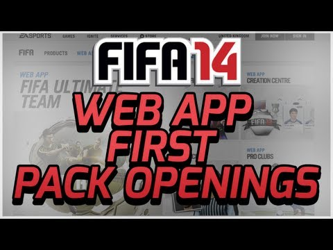FIFA 14 ULTIMATE TEAM - WEB APP- MY FIRST PACKS!