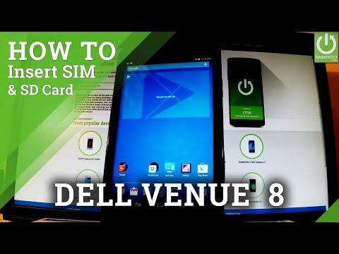 Insert SD Card in DELL Venue 8 - Install Memory Card