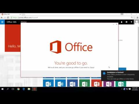Installing the Microsoft Office Apps with Office 365