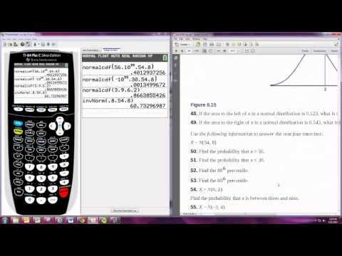 Calculating Probabilities with the Normal Distribution TI-84