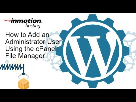 How to Add a Administrator using the cPanel File Manager