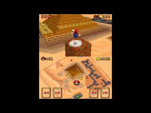 Let's Play Super Mario 64 DS Free Flying for 8 Red Coins