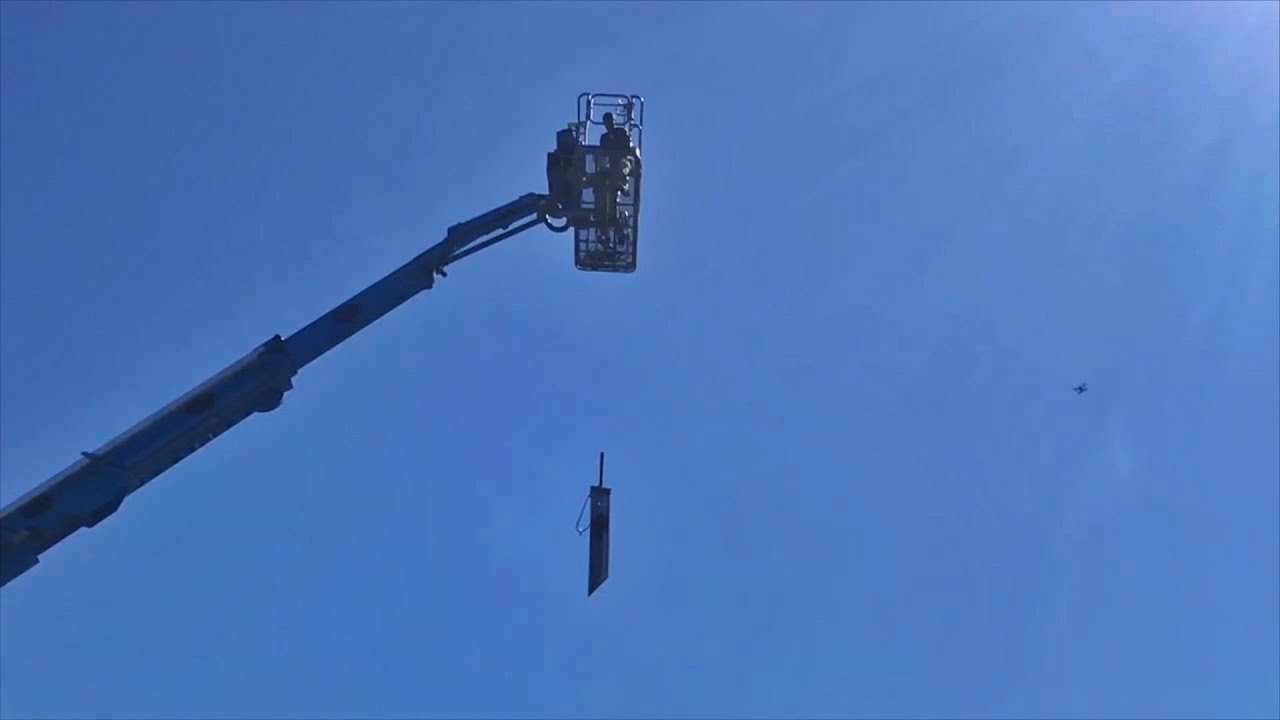 Dropping Giant Sword from Crane onto Car!!!