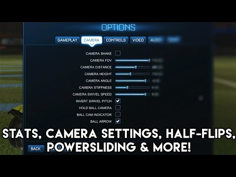 My Stats, Camera Settings & Button Bindings EXPLAINED! | Rocket League