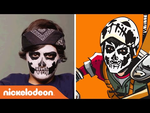 Teenage Mutant Ninja Turtles | Casey Jones Halloween Make Up Tutorial | Nick