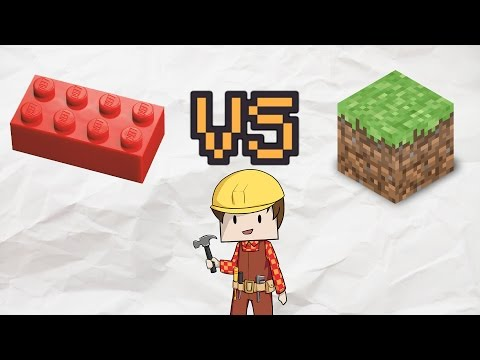 LEGO VS MINECRAFT - Which Can I Build Faster?