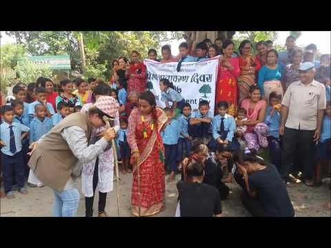 Street drama on World  Environment Day by Youth girls club Harnari