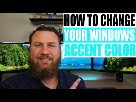 How to Change and Customize your Microsoft Windows accent color (color scheme)