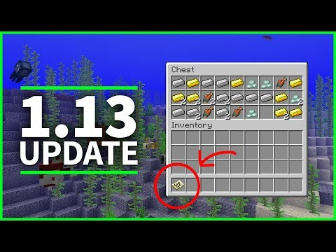 🦑 Minecraft 1.13 Update - TREASURES, TROPICAL FISH and CORALS - Minecraft 1.13 Snapshot 18w10a