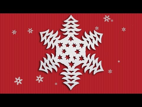 Paper Snowflakes Tutorial - Easy DIY Snowflake Patterns Making With Color Paper For Happy New Year