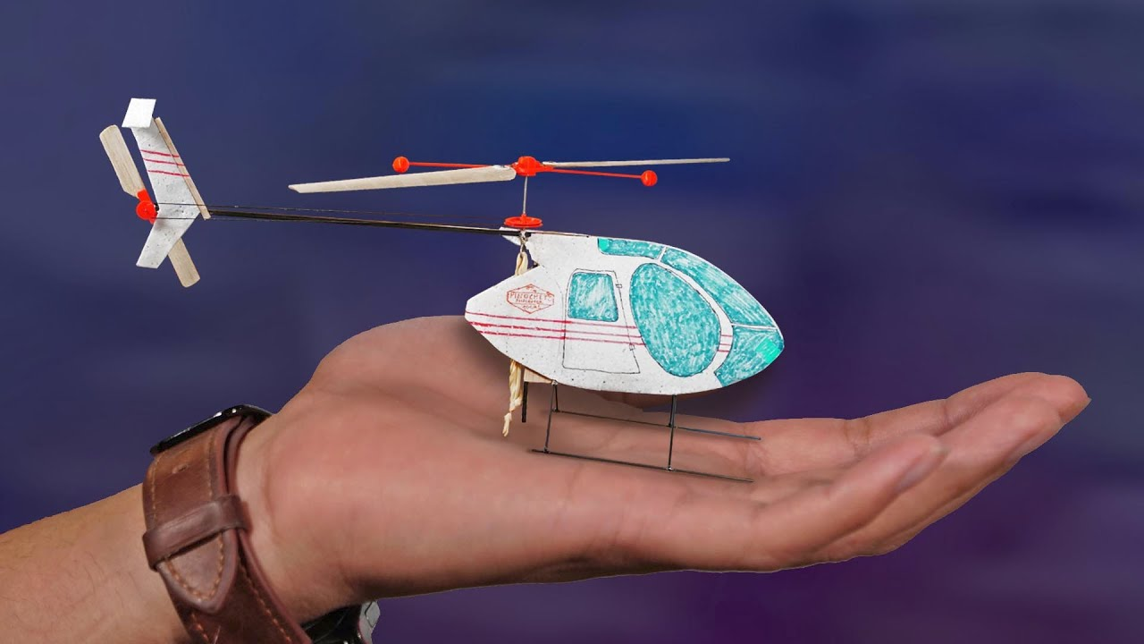 Making a Rubberband Powered Helicopter (working tail rotor)