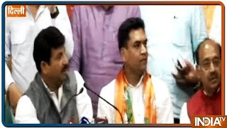 Download Former AAP minister Kapil Mishra joins BJP along with AAP women's wing chief Richa Pandey Video