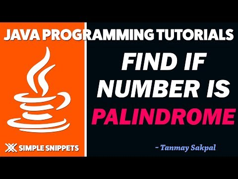 Java Program to Check if number is PALINDROME or Not | Java programming tutorials