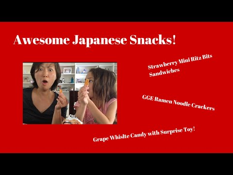 FoodMania Review: Japanese Ramen Crackers, Ritz Bits & Whistle Candy
