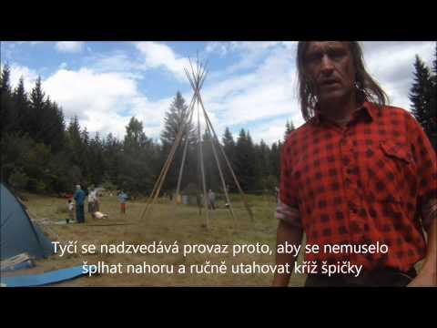 Jak se staví  indiánské te-pee, tee-pee, tepee, teepee?
