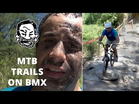 Will a BMX work on mountain bike trails? Sorta.