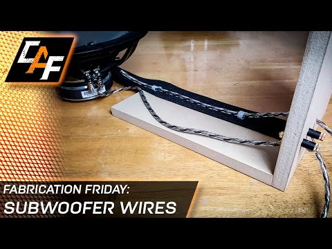 Say No to Terminal Cups! How to connect wire to a subwoofer box - CarAudioFabrication