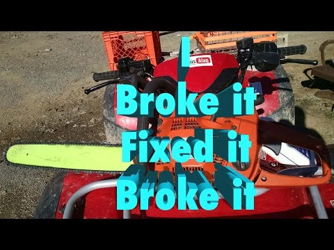 Changing Chainsaw Chain on a  Husqvarna 455 Rancher