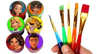 Elena of Avalor Drawing & Painting Surprise Toys Learn Colors with Skylar Isabel Mateo Gabe Naomi