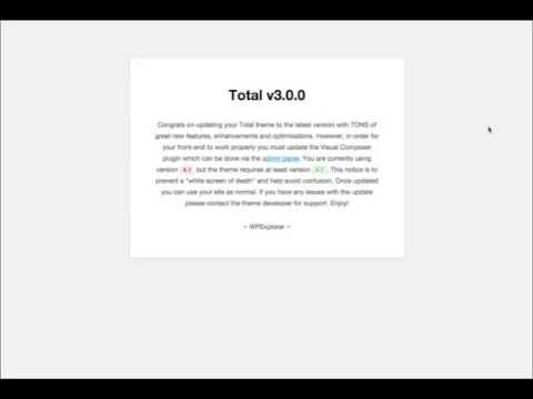 Updating Included Plugins - Total WordPress Theme