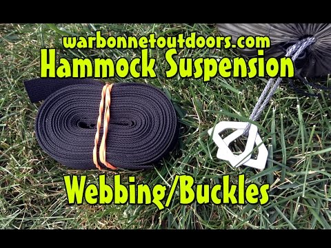 How to use a Cinch Buckle Hammock Camping Suspension from Warbonnet