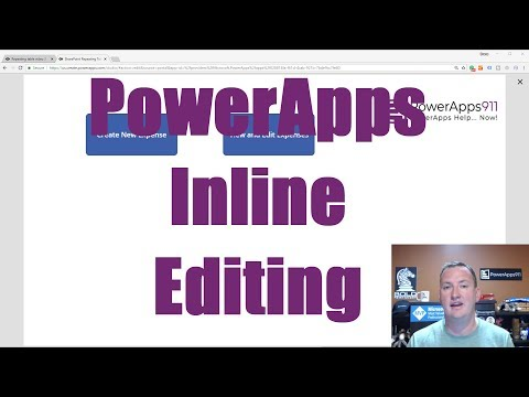 PowerApps Repeating Tables Like InfoPath Part 3 - Inline editing