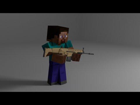 Minecraft: How to make a gun - (minecraft gun)