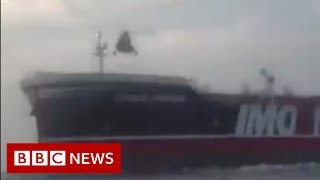 The moment Iranian forces board British tanker - BBC News
