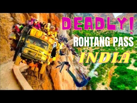Rohtang Pass Manali India Deadliest Road Drive, World's Highest Pass *HD*