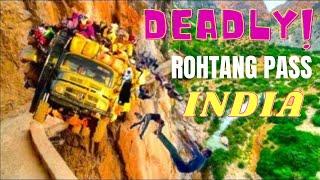 Rohtang Pass Manali India Deadliest Road Drive, World