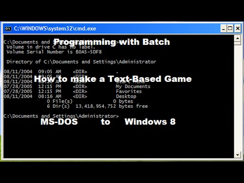 Programming with Batch - Make a Computer game - Beginners (MS DOS to Windows 10) 2014 - 2017