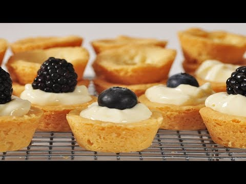 Shortbread Tarts Recipe Demonstration - Joyofbaking.com